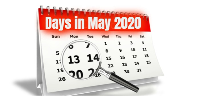 How Many Days in May 2020